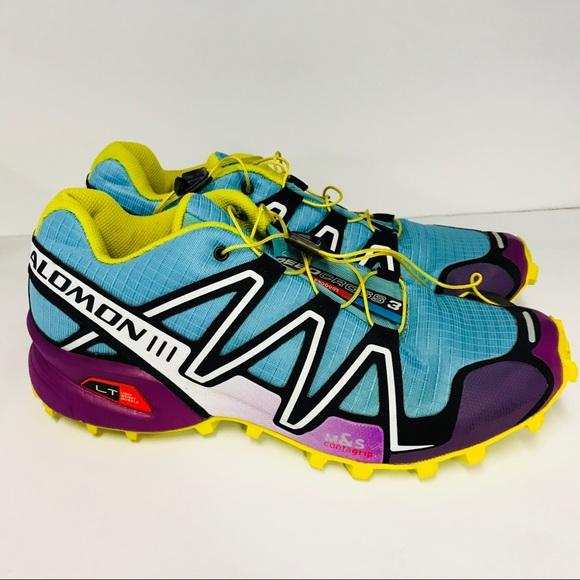 Women's 9.5 Salomon Speedcross 3 Shoes Blue Purple